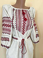Вишита сукня ручної роботи з мережкою 50 розмір, фото 1