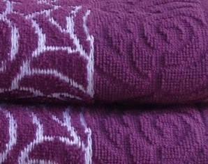 Полотенце махровое Perimele 70х140 Жаккард фиолет 500 гр/м2, фото 2