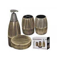 888-005 Набор аксессуаров для ванной комнаты 4 пр Африка