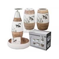 Набор аксессуаров для ванной комнаты Пчелка 888-080