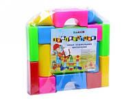 Кубики для детей Строитель малый Бамсик