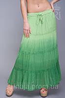 Летняя юбка из натуральной ткани большие размеры много цветов, фото 1