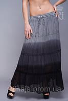 Летняя женская легкая юбка хлопок градиент, фото 1