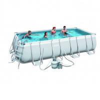 Каркасный бассейн Bestway 56390 с песочным фильтром (488х274х122)