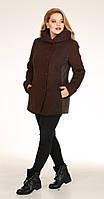 Пальто Диамант-1703 белорусский трикотаж, коричневый, 50