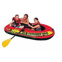 Надувная лодка двухместная Intex 58357 (196х102х33 см.) + Весла, насос. Explorer 200 Pro