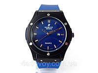 Часы мужские HUBLOT - Big Bang каучуковый синий ремешок, цвет корпуса часов черный