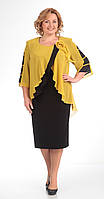 Платье Pretty-520 белорусский трикотаж, желтый, 56