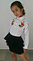 """Детская школьная юбка для девочки """"Naomi"""" с баской (3 цвета)"""