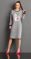 Платье Lissana-2997 белорусская одежда из ткани Хлопок цвета Серый