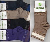 Носки женские без резинки демисезонные бамбук Montebello, ароматизированные, средние, ассорти, 1620
