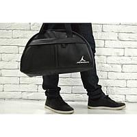 Спортивная сумка Jordan 114660 черная искусственная кожа плечевой ремень 45см х 28см х 17см