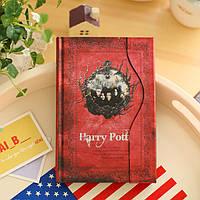 """Блокнот """"Гарри Поттер"""", цвет обложки красный"""