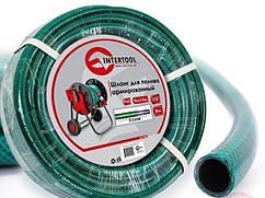 """Шланг поливочный """"Intertool"""" зеленый 3-х слойный арт. GE-4025 сечение 1/2"""", длина 30 м"""