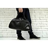 ae3fbe06e692 Спортивная сумка Reebok 114664 черная искусственная кожа плечевой ремень  45см х 28см х 17см копия