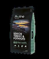 Profine Senior Turkey 15кг -корм для пожилых собак с индейкой и картофелем