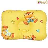 Ортопедическая подушка для новорожденных (жёлтая)