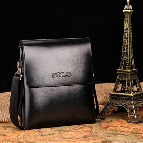 Мужская кожаная сумка-барсетка Polo. Модель 0441
