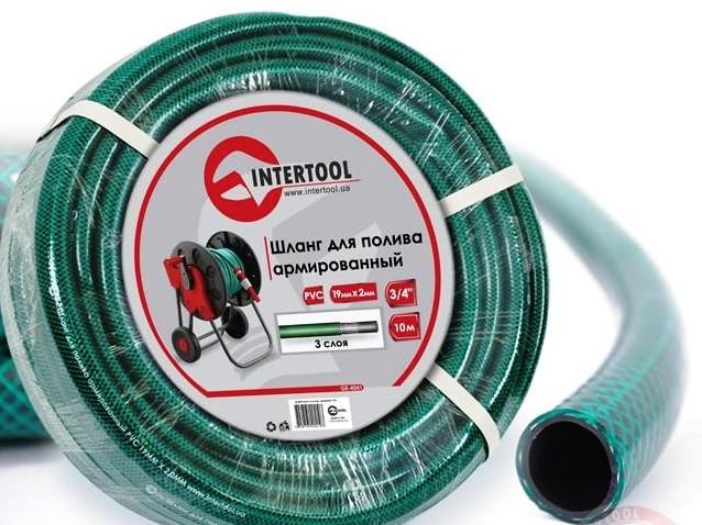 """Шланг поливочный """"Intertool"""" зеленый 3-х слойный арт. GE-4041 сечение 3/4"""", длина 10 м"""