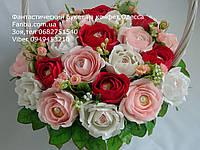"""Нежный букет роз из конфет """"Элегия""""№25"""