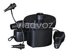 Насос электрический для надувных бассейнов, матрасов с аккумулятором 62083 220v/12v