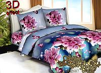 Комплект постельного белья 3D поликоттон ТМ Sveline Tekstil (Украина) евро PC2687