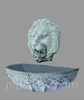 """Фонтан настенный """" Голова льва с чашей"""" маленький"""