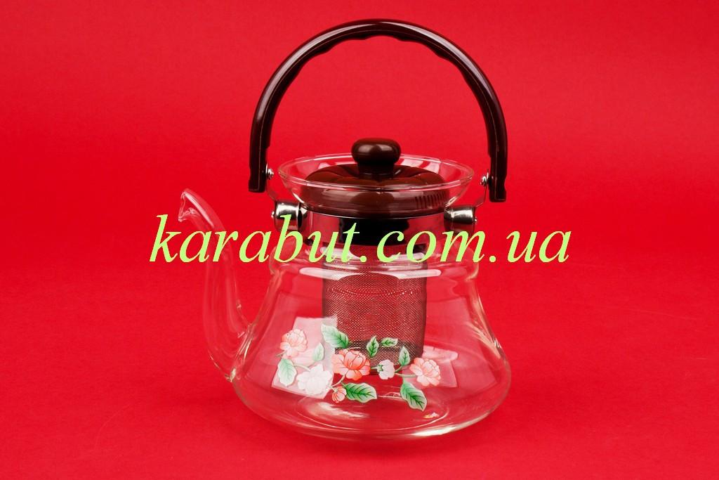 Чайник стеклянный заварочный 0,8 литра