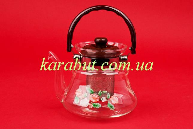 Чайник стеклянный заварочный 0,8 литра, фото 2