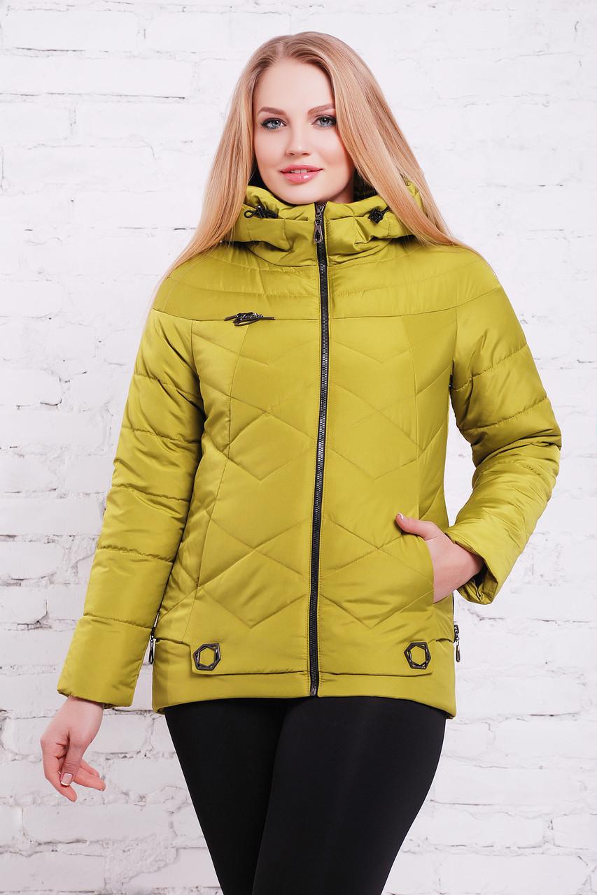 6d02bcf0f11 Женская демисезонная куртка Линда. Коллекция  весна 2018г. Цвет  зеленое  яблоко. -
