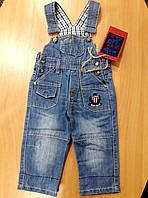 Комбинезон джинсовый для мальчика, синий