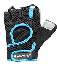 BioTech Перчатки BUDAPEST ( black/cyan blue)