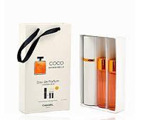 Женский подарочный набор 3*15 мл Chanel Coco Mademoiselle (Шанель Коко Мадмуазель)