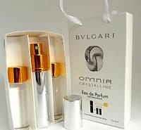 Женский подарочный набор 3*15 мл Bvlgari Omnia Crystalline (Булгари Омния Кристаллин)
