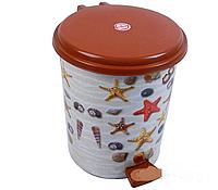 Ведро мусорное педальное с рисунком  17л