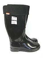 Черные женские резиновые сапоги, фото 1