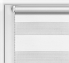 """Рулонные шторы системы """"День-ночь"""" (зебра) белый, РАЗМЕР 42,5х170 см"""