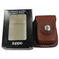 Чехол Zippo коричневый с клипсой LPCB