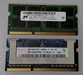 2GB PC3-8500 SO-DIMM DDR3 Модуль памяти