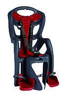 Сиденье задн. Bellelli Pepe Standart Multifix до 22кг, серое с красной подкладкой