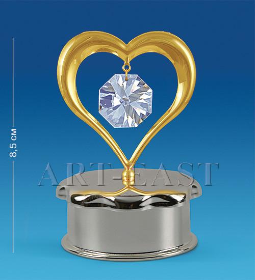 "Шкатулка ""Серце"" 6x5,5x8,5 см, Crystal Temptations, США"