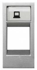 ABB Zenit Лицевая панель комуникационных розеток (1 модуль) серебро