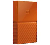 Внешний жесткий диск 1Tb Western Digital My Passport, Orange, 2.5', USB 3.0 (WDBYNN0010BOR-WESN)