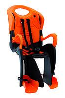 Сиденье задн. Bellelli Tiger Relax B-fix до 22кг, чёрно-оранжевое с оранжевой подкладкой