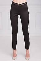 Модные женские брюки шоколадного цвета с завышенной талией