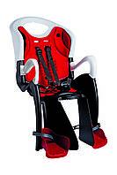 Сиденье задн. Bellelli Tiger Standart B-fix до 22кг, чёрно-белое с красной подкладцой