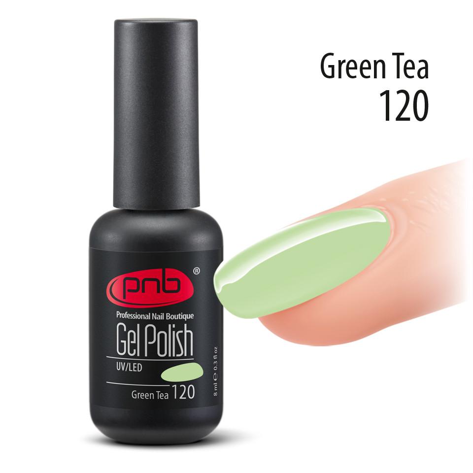 Ель лак PNB, 8 ml № 120 ( пастельный ,бледно зеленый, эмаль )