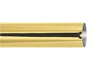 Труба гладкая 1,6 м. для кованого карниза 25 мм золото