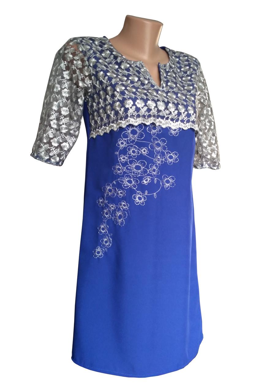 Вишита гіпюрова сукня на кожен день в етно стилі