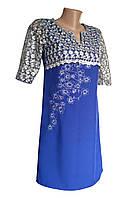 Вышитое гипюровое платье на каждый день в этно стиле